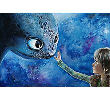 Toothless in Watercolour Photographic Print