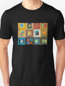 "Lilly Geometric Textile Art Series ""Loose Ends, Five"" Unisex T-Shirt"