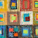 "Lilly Geometric Textile Art Series ""Loose Ends, Five"" by Steve Chambers"
