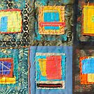"Lilly Geometric Textile Art Series ""Loose Ends, Thirteen"" by Steve Chambers"