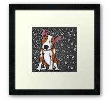 Starry English Bull Terrier  Framed Print