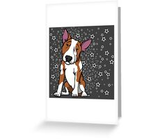 Starry English Bull Terrier  Greeting Card