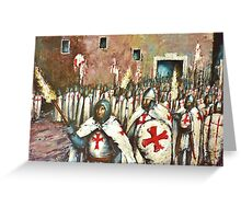 EVENING PROCESSION Greeting Card