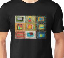 """Lilly Geometric Textile Art Series """"Loose Ends, Six"""" Unisex T-Shirt"""