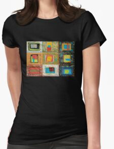 "Lilly Geometric Textile Art Series ""Loose Ends, Six"" Womens Fitted T-Shirt"