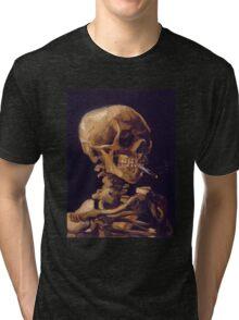 Vincent Van Gogh's 'Skull with a Burning Cigarette'  Tri-blend T-Shirt