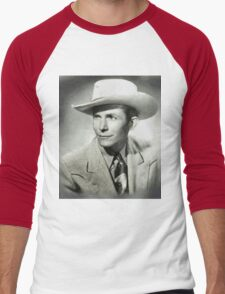 Hank Williams by MB Men's Baseball ¾ T-Shirt