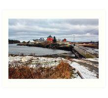 Winter at Stonehurst Art Print