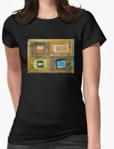 "Lilly Geometric Textile Art Series ""Loose Ends, Seven"" Womens Fitted T-Shirt"