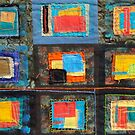 "Lilly Geometric Textile Art Series ""Loose Ends, Fourteen"" by Steve Chambers"