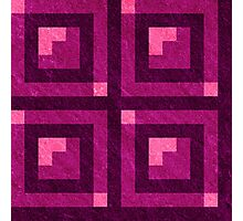 Magenta Pixel Blocks Photographic Print