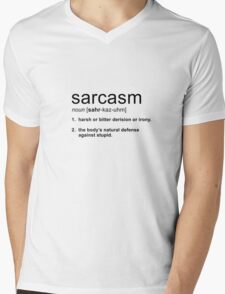 sarcasm Mens V-Neck T-Shirt
