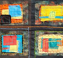 """Lilly Geometric Textile Art Series """"Loose Ends, Nine"""" by Steve Chambers"""
