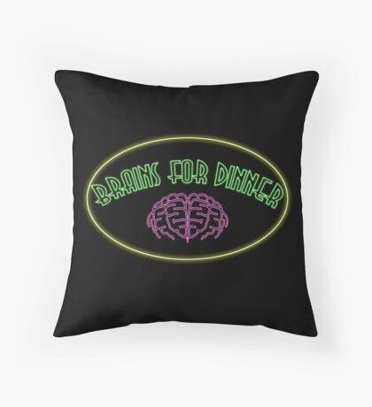Brains for dinner Throw Pillow