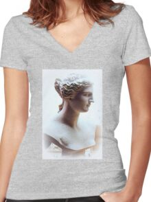 Venus Bust Women's Fitted V-Neck T-Shirt