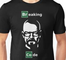 Breaking Code - White/Green on Black Parody Design for Programmers Unisex T-Shirt