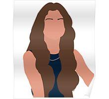 Selena Gomez Vector Drawing Poster