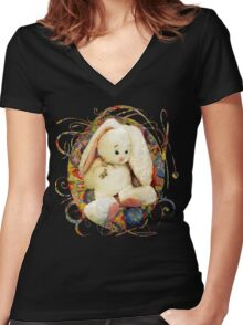 Too Much Candy ~ Poor Baby! Women's Fitted V-Neck T-Shirt