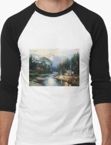 'Wingardium Leviosa' - Funny Harry Potter Parody of Harry, Hedwig, and Ron Weasley in Flying Car - Altered Thrift Art Parodies by Dave Pollot Men's Baseball ¾ T-Shirt