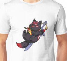 Dark Chibiterasu + Sake + Sword Unisex T-Shirt
