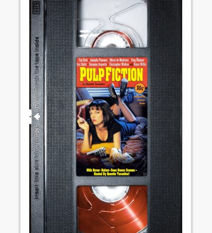 Pulp Fiction case Sticker