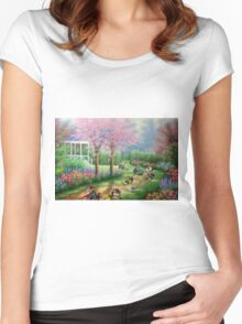 'Ridin' Dirty' - Funny Mario Kart Parody of Mario, Luigi, Bowser, Yoshi and More - Altered Thrift Art Parodies by Dave Pollot Women's Fitted Scoop T-Shirt