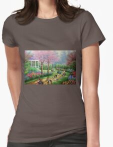 'Ridin' Dirty' - Funny Mario Kart Parody of Mario, Luigi, Bowser, Yoshi and More - Altered Thrift Art Parodies by Dave Pollot Womens Fitted T-Shirt