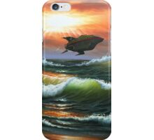 '2999' - Funny Futurama Parody of Planet Express Spaceship - Repurposed Thrift Art by Dave Pollot iPhone Case/Skin