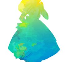 Alice inspired silhouette Sticker
