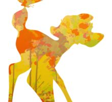 Bambi inspired silhouette Sticker