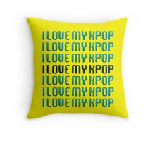 LOVE MY KPOP - YELLOW Throw Pillow