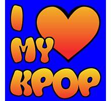 I LOVE MY KPOP - BLUE Photographic Print