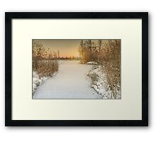 Sunset in lake Framed Print