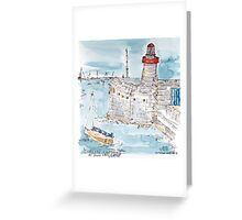 Dun Laoghaire Lighthouse Greeting Card