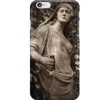 Park Statue Sepia iPhone Case/Skin