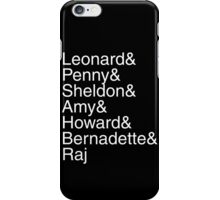 The Big Bang Theory - Names iPhone Case/Skin