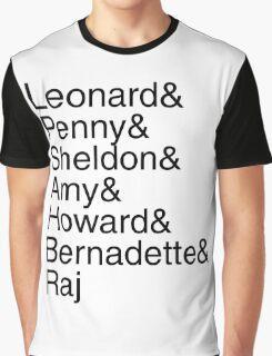 The Big Bang Theory - Names Graphic T-Shirt