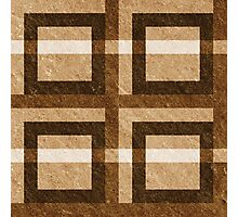Brown Pixel Blocks Photographic Print