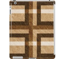 Brown Pixel Blocks iPad Case/Skin