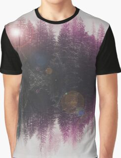 Abstract purple Graphic T-Shirt