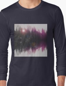 Abstract purple Long Sleeve T-Shirt
