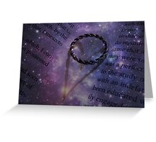 Galactic Book of Hearts Greeting Card