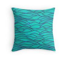 Abstract waves texture.  Throw Pillow