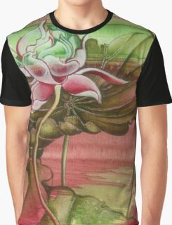 """""""Here Begins The Journey Towards Sky"""" from the series """"In the Lotus Garden"""" Graphic T-Shirt"""