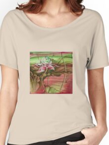 """""""Here Begins The Journey Towards Sky"""" from the series """"In the Lotus Garden"""" Women's Relaxed Fit T-Shirt"""