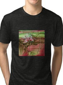 """""""Here Begins The Journey Towards Sky"""" from the series """"In the Lotus Garden"""" Tri-blend T-Shirt"""