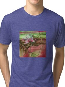 """Here Begins The Journey Towards Sky"" from the series ""In the Lotus Garden"" Tri-blend T-Shirt"