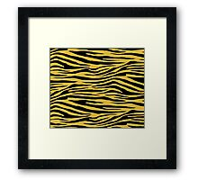 0407 Meat Brown Tiger Framed Print