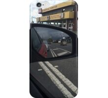 Storm chasing in car mirror iPhone Case/Skin
