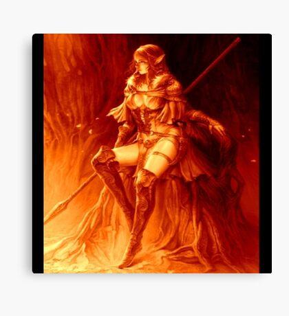 Fall Color Elf Warrior Canvas Print
